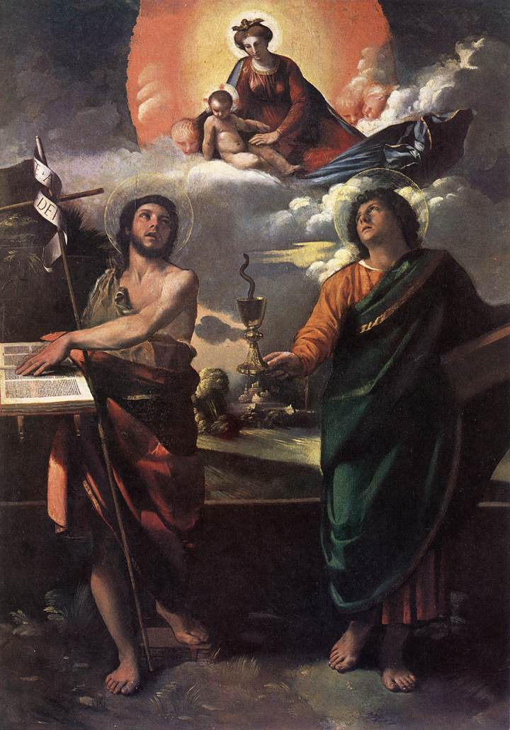 The Virgin Appearing to Sts John the Baptist and John the Ev