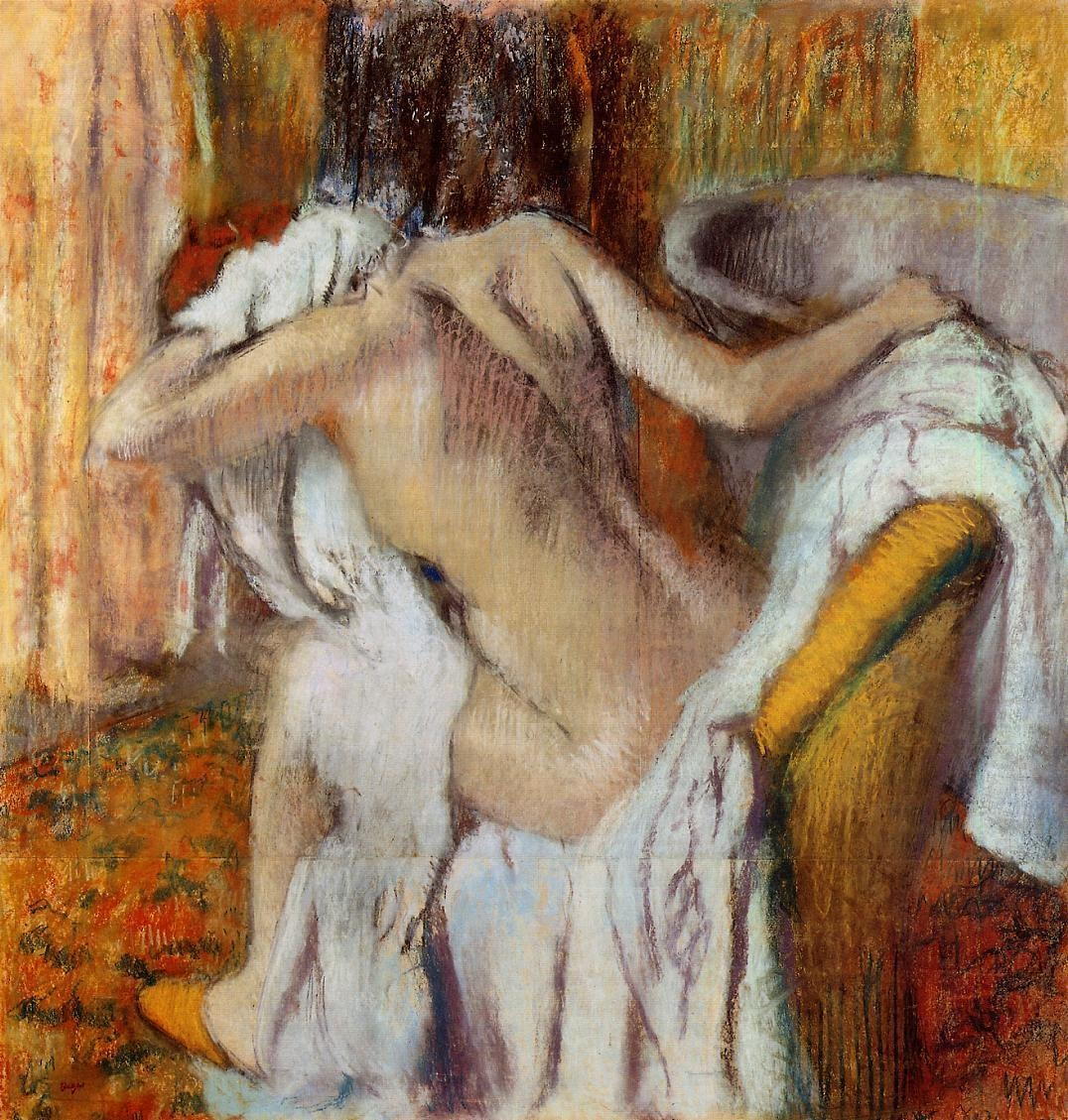 after-the-bath-woman-drying-herself-1