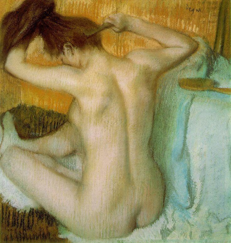 degas-edgar-woman-combing-her-hair-c-1886