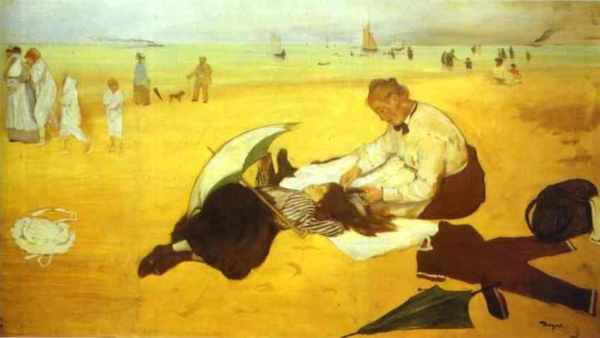 edgar-degas-at-the-beach