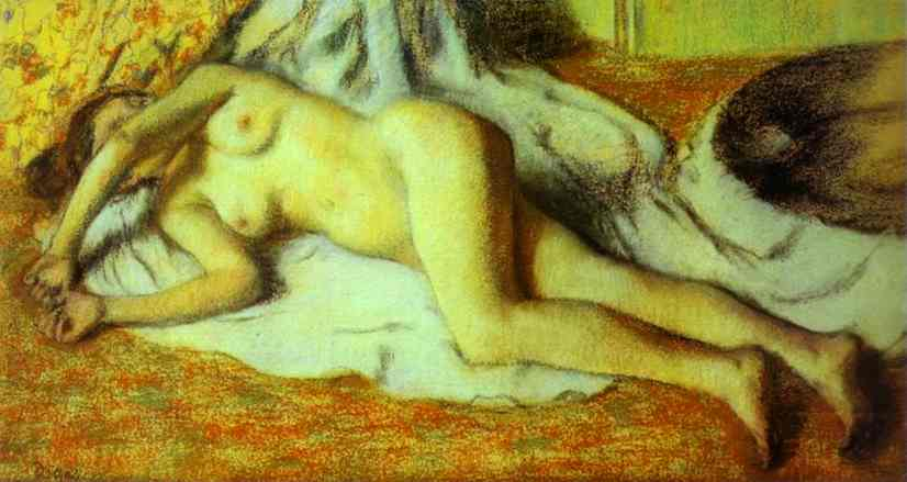 edgar-degas-bather-streched-out-on-the-floor