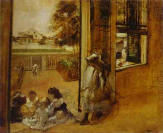 edgar-degas-courtyard-of-a-house-in-new-orleans