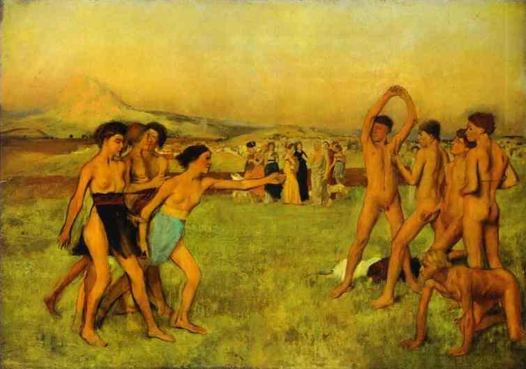 edgar-degas-spartan-girls-challenging-boys