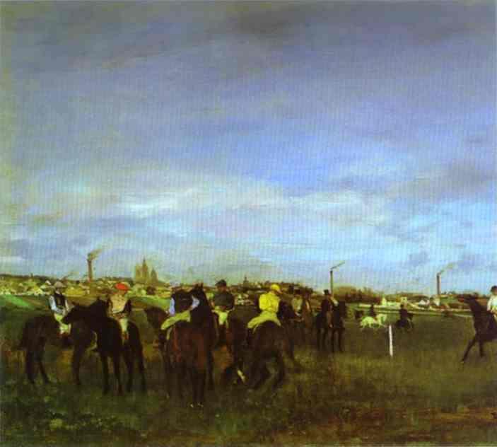 edgar-degas-the-races-before-the-start