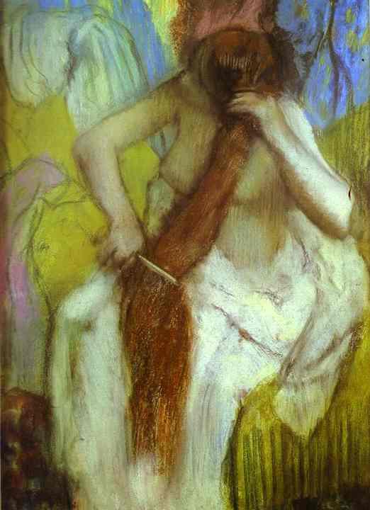 edgar-degas-woman-combing-her-hair