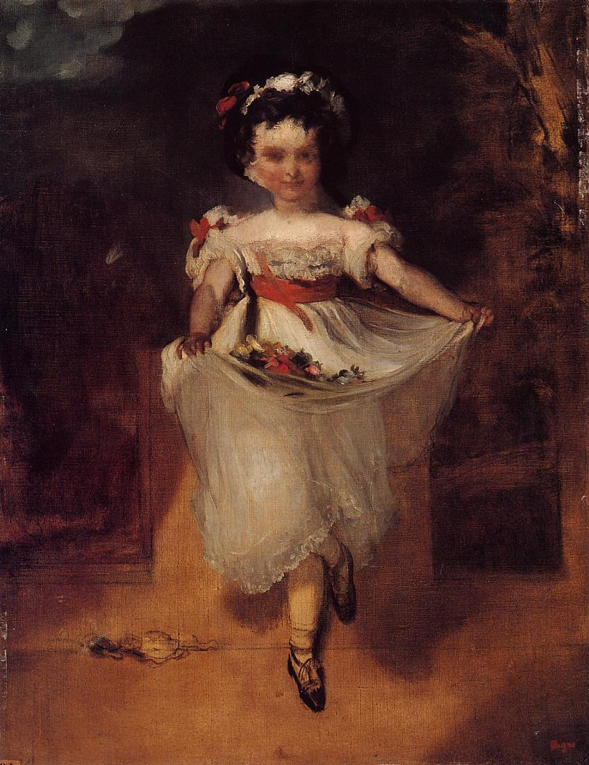 little-girl-carrying-flowers-in-her-apron