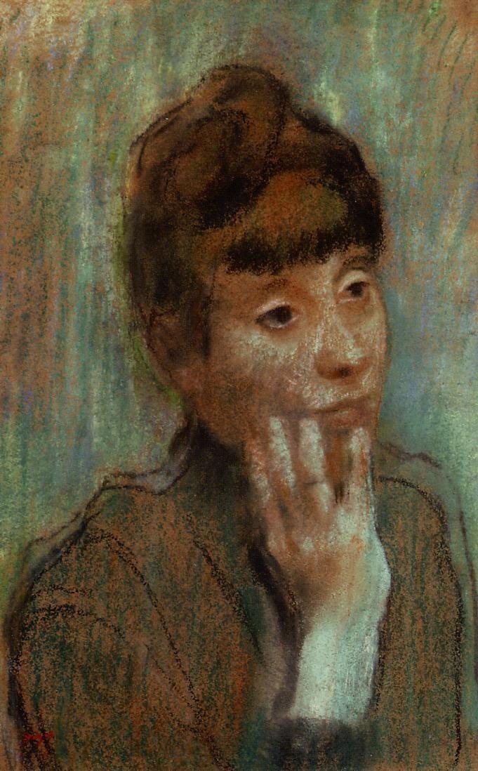 portrait-of-a-woman-wearing-a-green-blouse