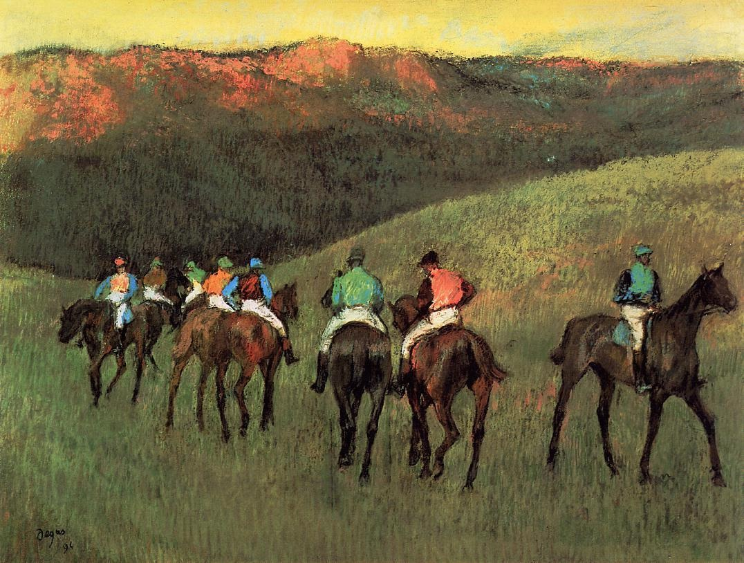racehorses-in-a-landscape