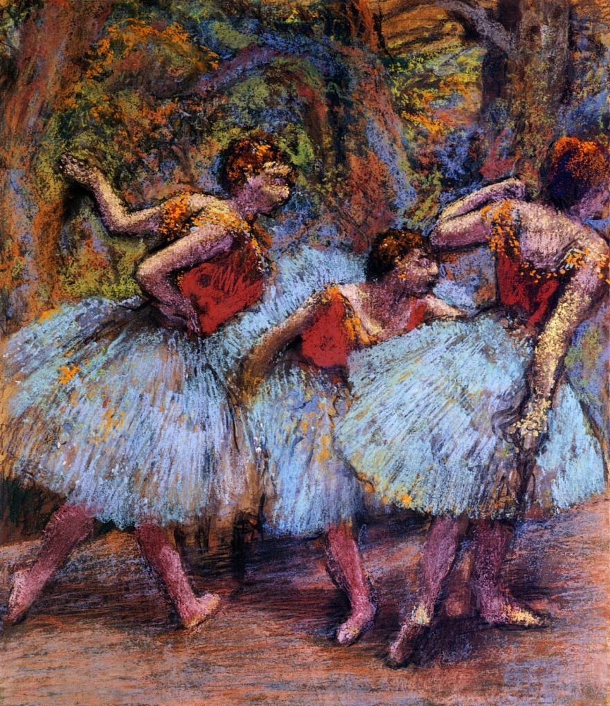 three-dancers-blue-skirts-red-blouses