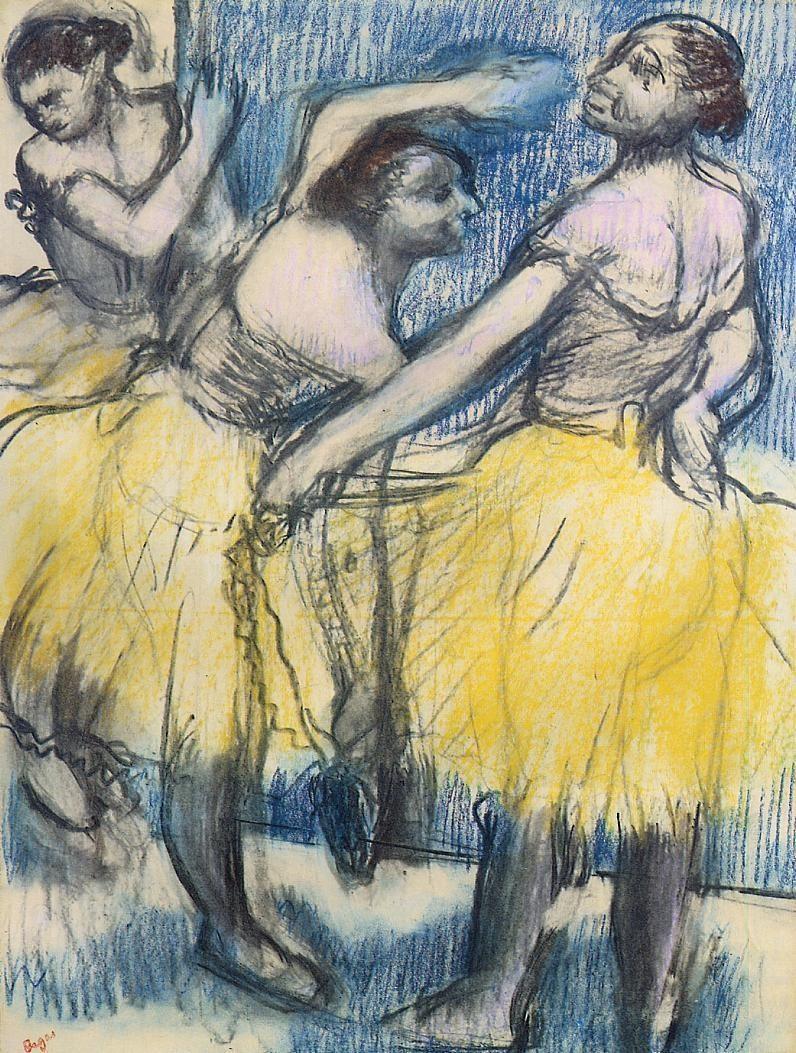 three-dancers-in-yellow-skirts