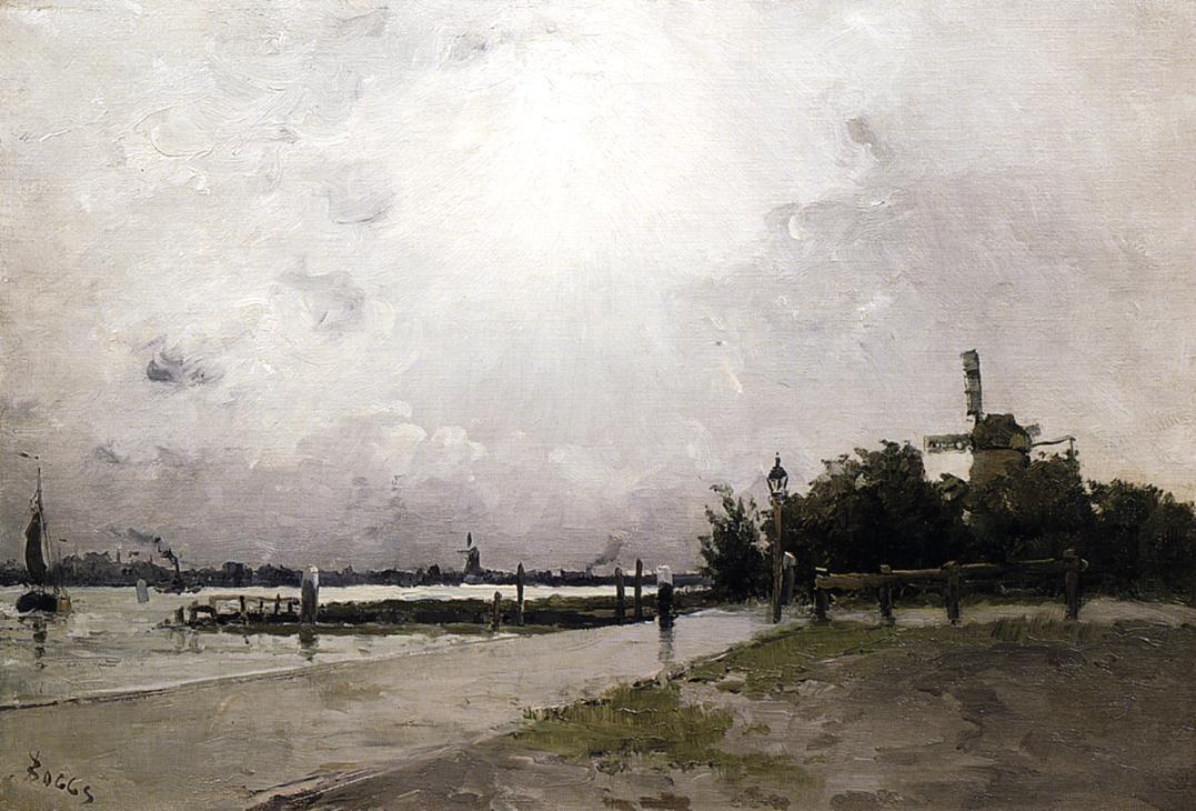 windmill-on-the-coast-holland