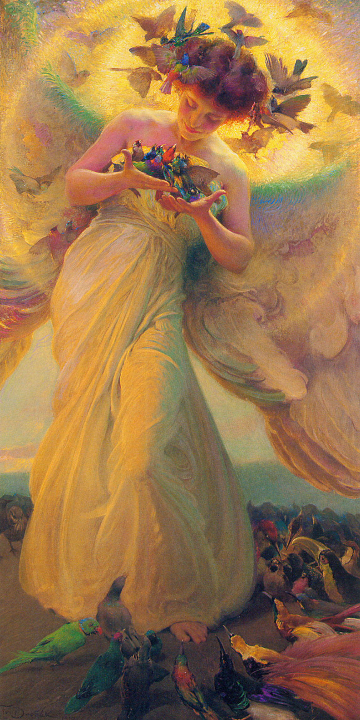 The angel of the birds (1910)oil on canvas106.7 x 203.2 cm