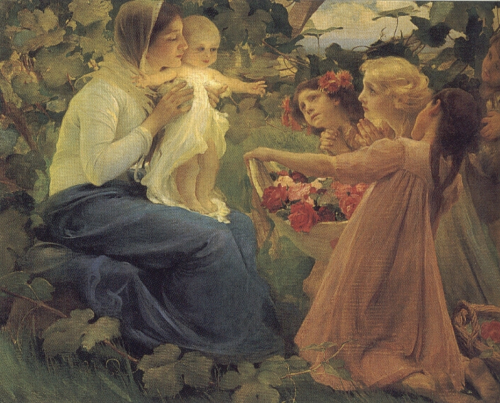 Presenting Flowers to the Infant