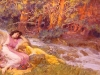 reclining-by-a-stream