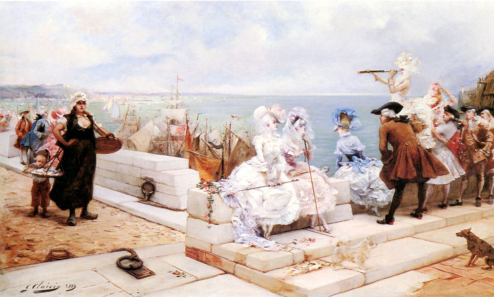 elegant-figures-watching-the-regatta