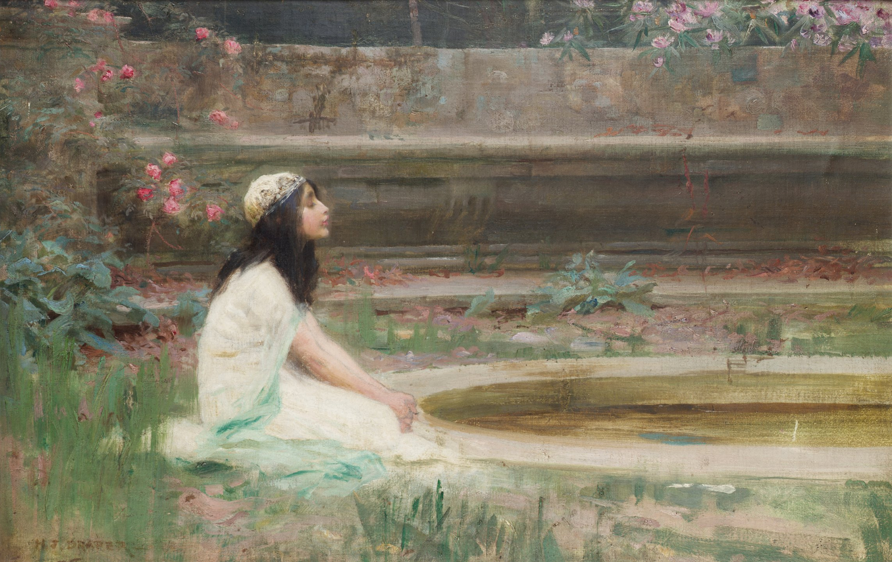Herbert_James_Draper,_A_Young_Girl_by_a_Pool
