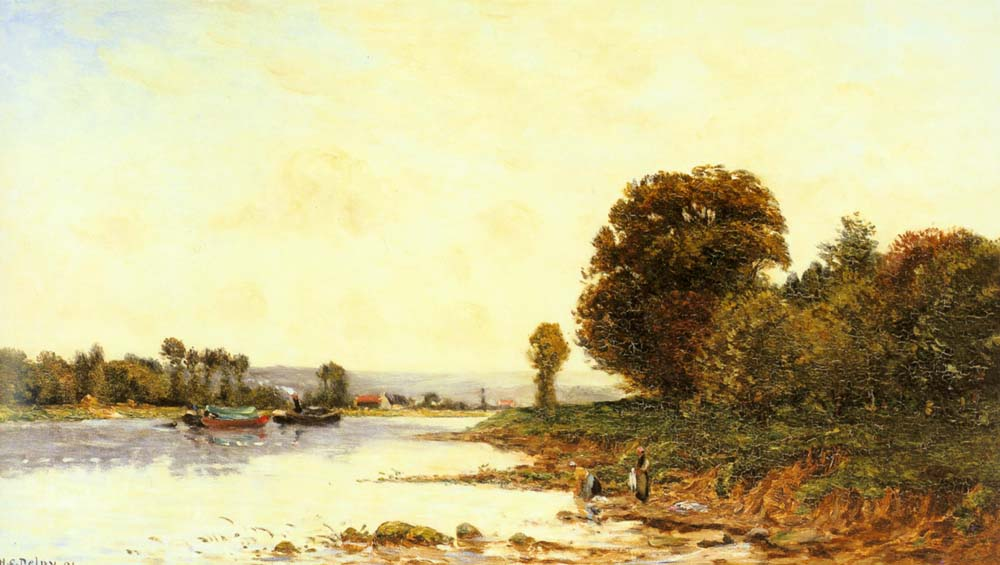 washerwomen-in-a-river-landscape-with-steamboats-beyond