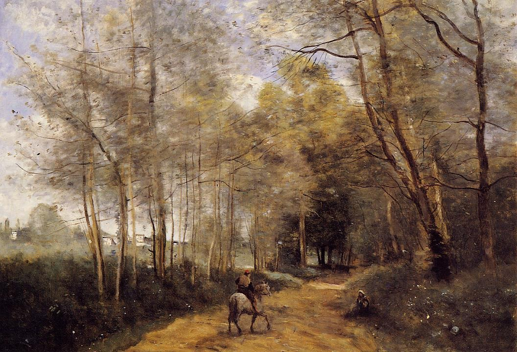 ville-davray-horseman-at-the-entrance-of-the-forest
