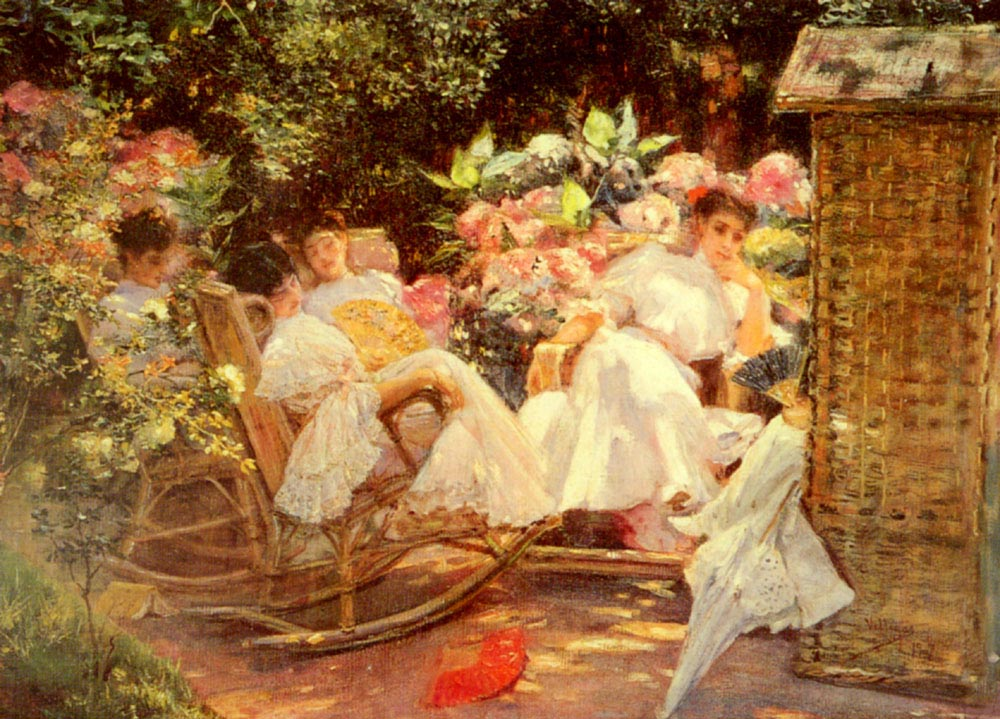 ladies-in-a-garden
