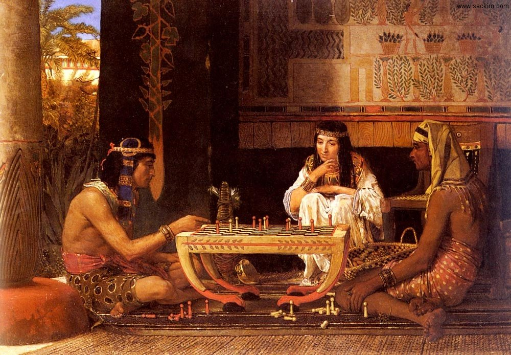 egyptian-chess-players