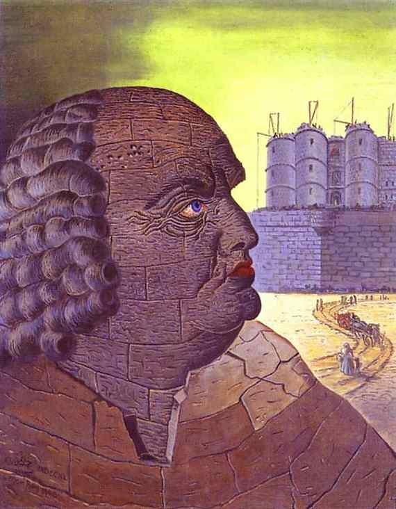 Marcel Duchamp Imaginary Portrait of the Marquis de Sade