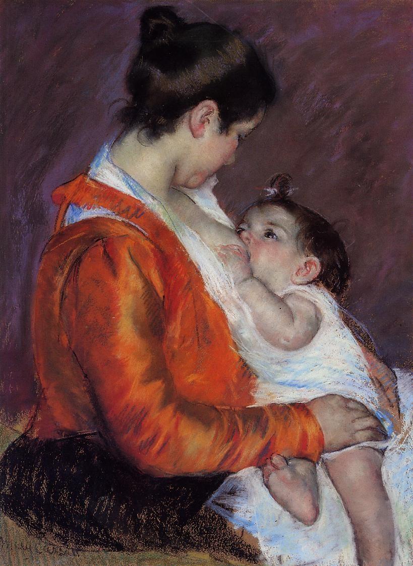 louise-nursing-her-child