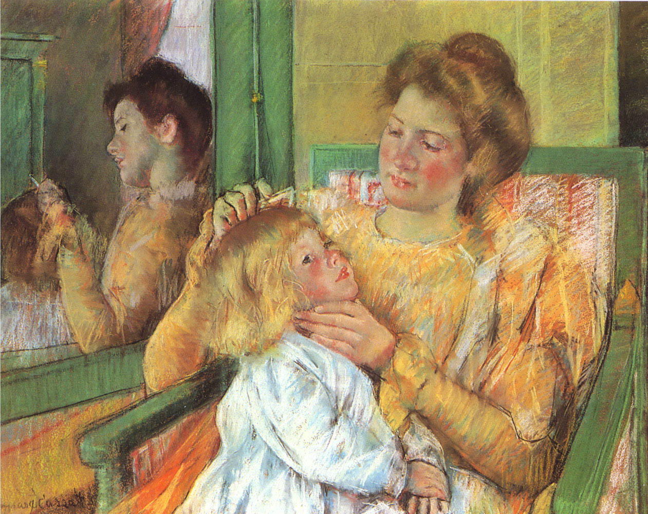 mother-combing-her-childs-hair
