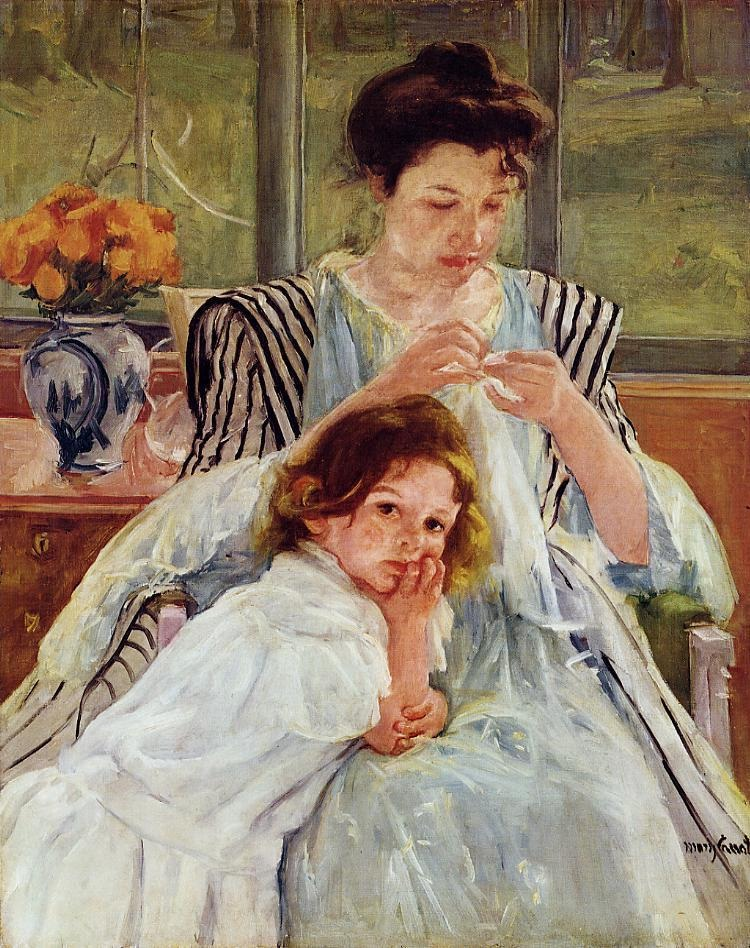 young-mother-sewing