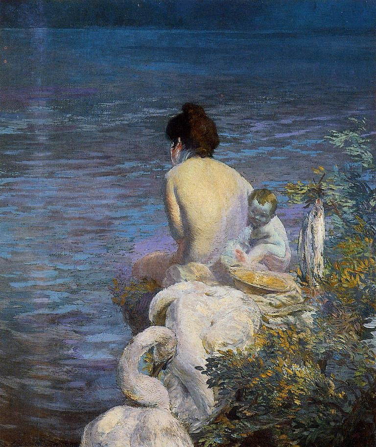 bather-with-child-and-swan-by-the-sea