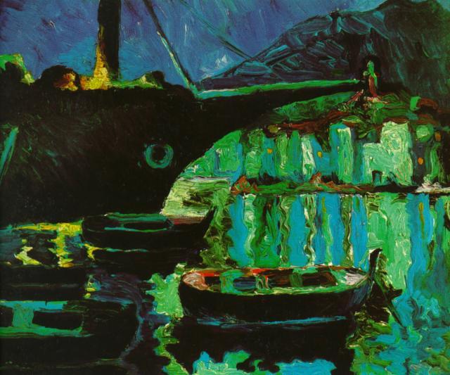 1918_08_Port of CadaquNs (Night), 1918-19