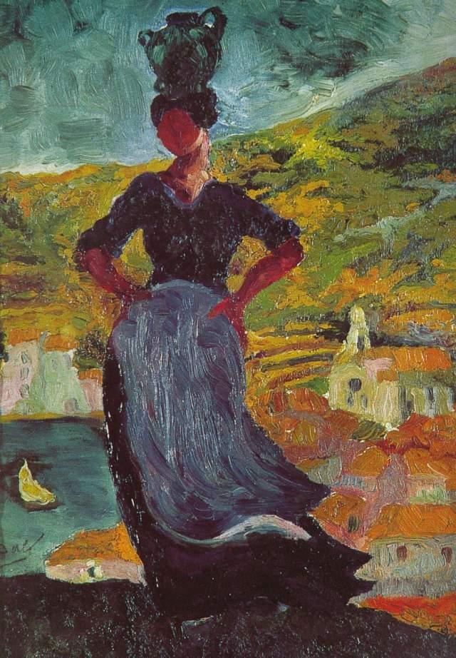 1919_01_Portrait of Hortensia, Peasant Woman of CadaquNs, circa 1919