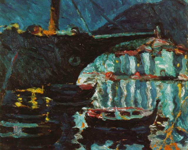 1919_12_The Port of CadaquNs, circa 1919