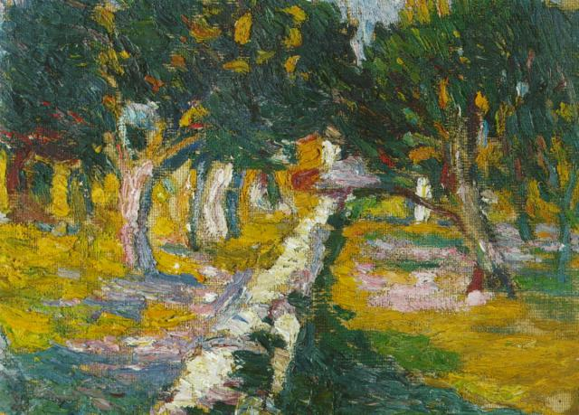 1919_18_Orchard at LlanN (CadaquNs), 1919-20