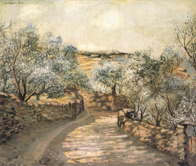 1922_04_The Lane to Port Lligat with the View of Cape Creus, 1922-23