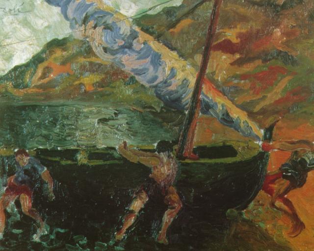 1922_15_Fishermen at CadaquNs, 1922