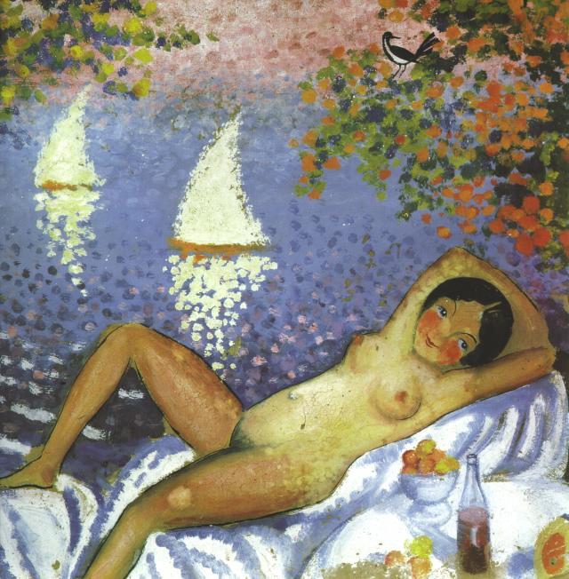 1923_01_Nude in a Landscape, circa 1923