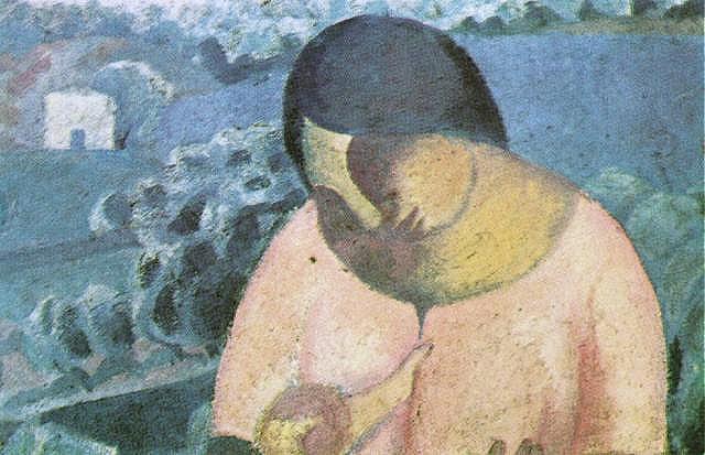 1923_10_Woman Nursing Her Son (Mujer amamantando a su hijo), 1923