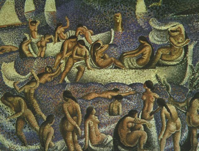 1923_12_Bathers of La Costa Brava - Bathers of Llaner, 1923