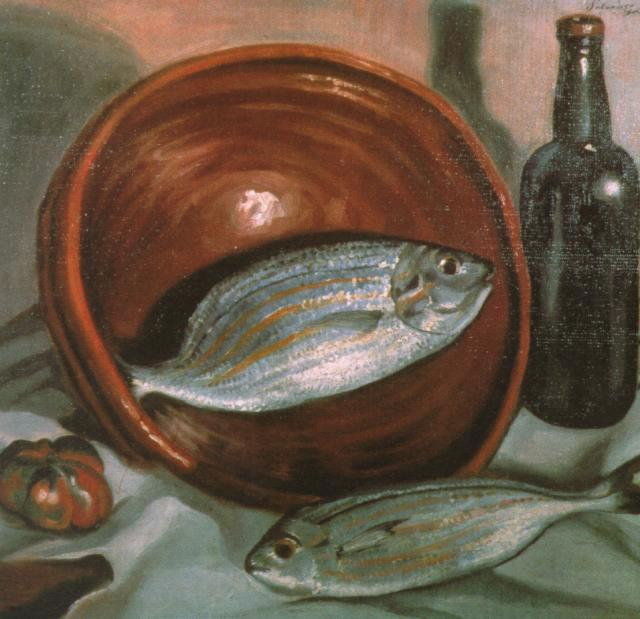 1923_15_Still Life_ Fish with Red Bowl, 1923-24