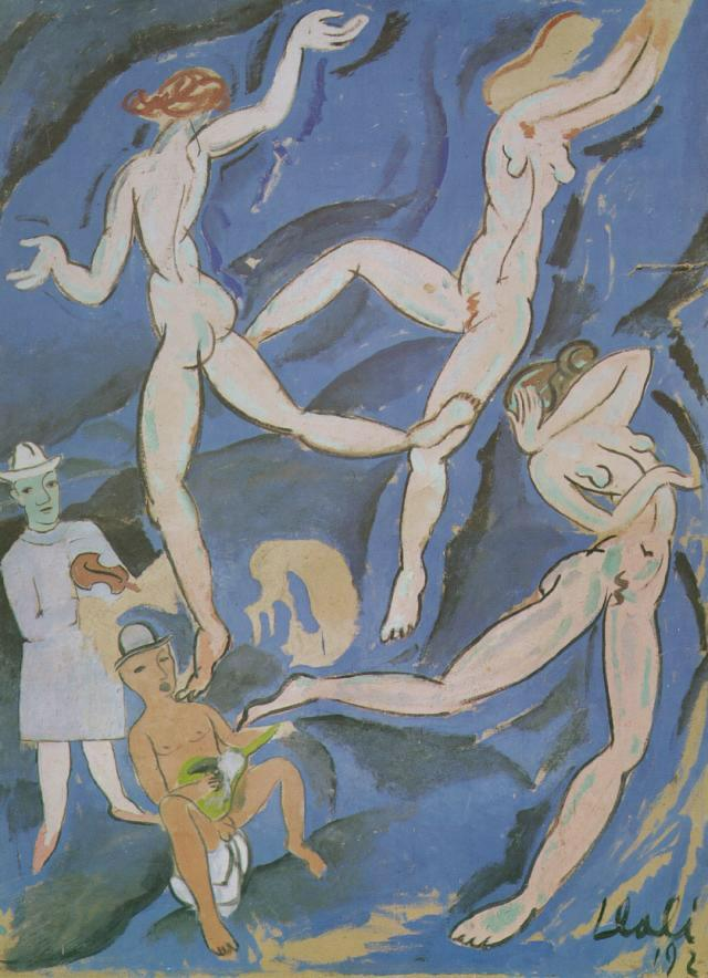1923_18_Satirical Composition ('The Dance' by Matisse), 1923