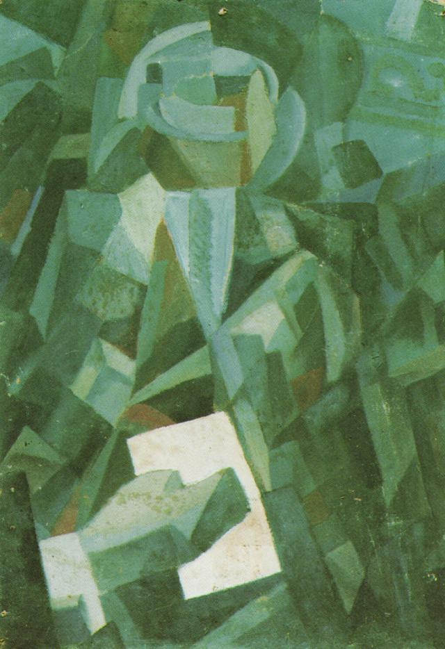 1923_28_Cubist Composition - Portrait of a Seated Person Holding a Letter, 1923