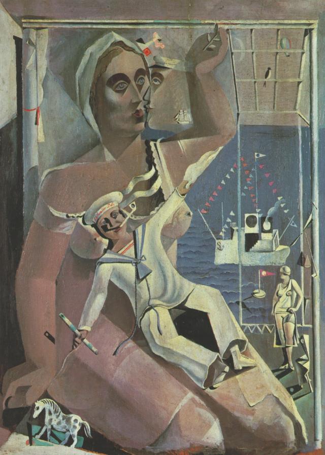 1925_05_Venus and a Sailor - (Homage to Salvat-Papasseit), 1925