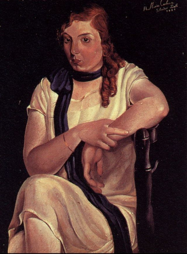 1925_09_Portrait of Maria Carbona, 1925
