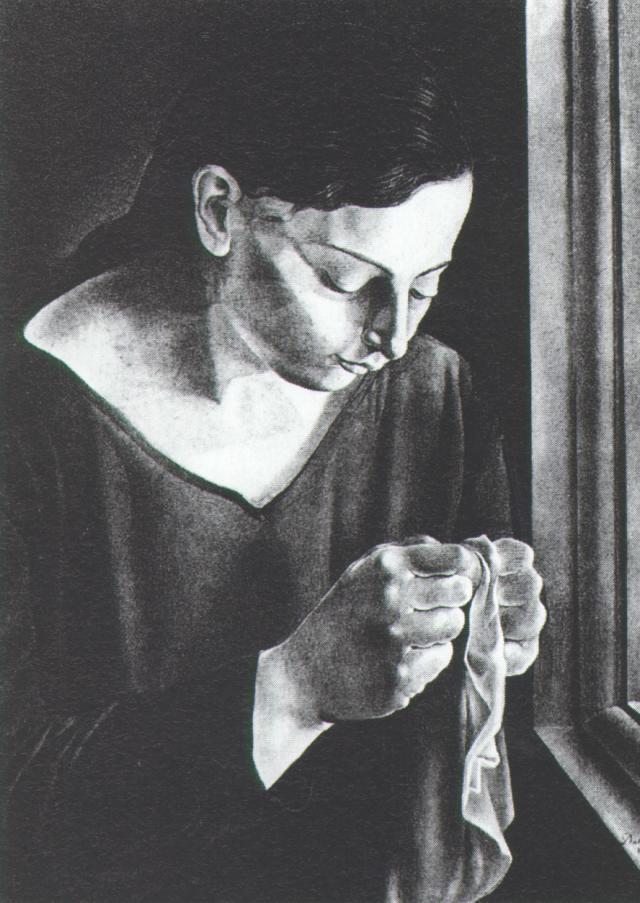 1926_22_Ana Maria, Sewing, 1926