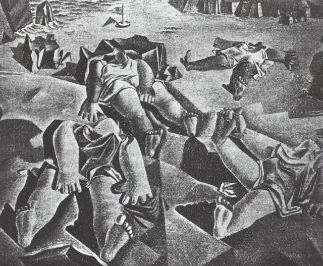 1926_29_Women Lying on the Beach, 1926