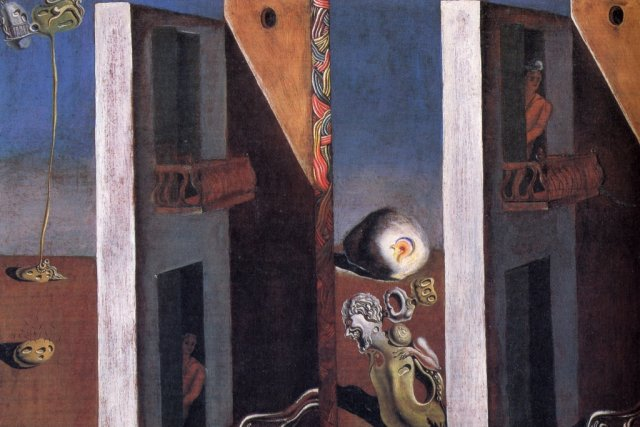 1929_13_Man with Unhealthy Complexion Listening to the Sound of the Sea (The Two Balconies), 1929