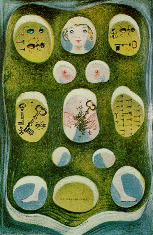 1931_16_Combinations (or The Combined DalHnian Phantasms_ Ants, Keys, Nails), 1931