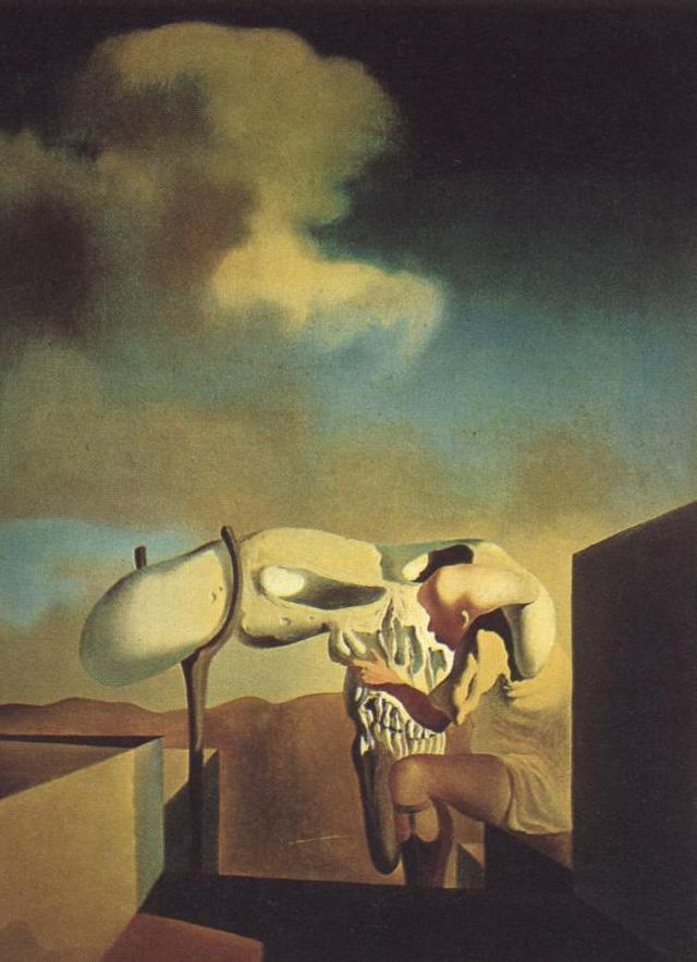 1933_04_Average Atmospherocepalic Bureaucrat in the Act of Milking a Cranial Harp, 1933