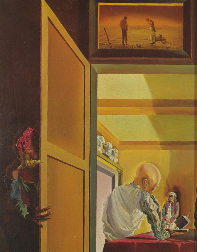 1933_07_Gala and the Angelus of Millet Preceding the Imminent Arrival of the Conical Anamorphoses