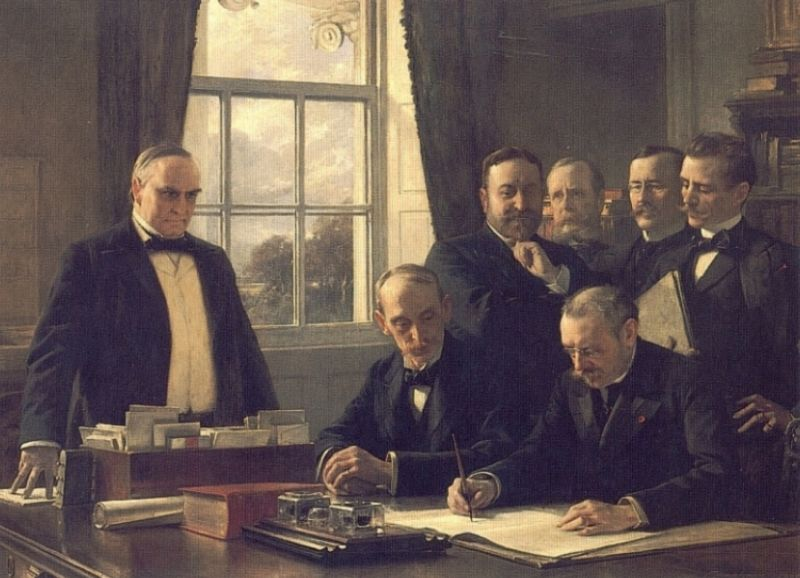 the-signing-of-the-protocol-of-peace-between-the-united-stat
